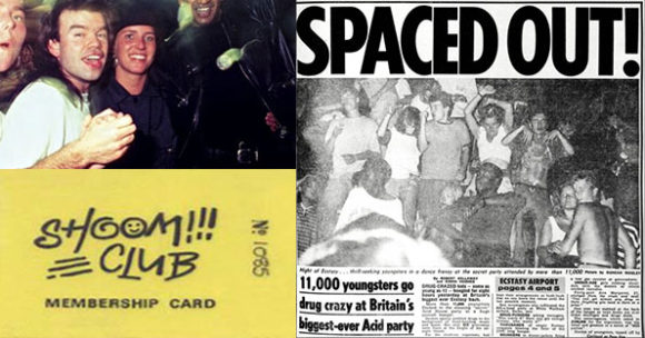 Oakey at Shoom in 1987 and the famous Sun Newspaper headline
